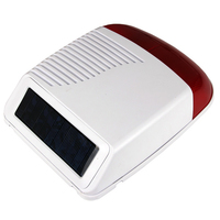 GZGMET 433MHZ WIRELESS STROBE FLASHING SIREN solar panel powered with RECHARGEABLE BATTERY