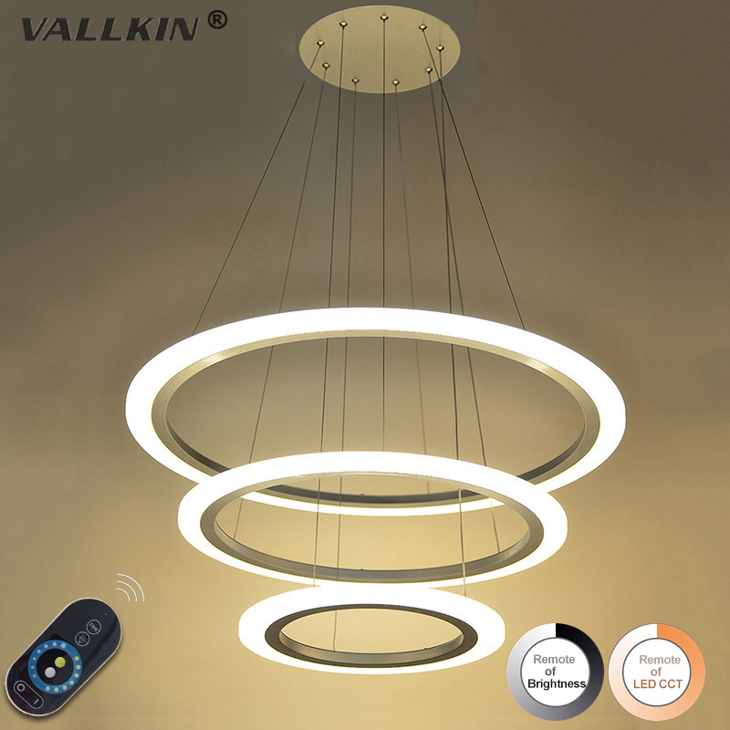 VALLKIN Acrylic Pendant Light Modern Pendant Lights for Kitchen Room Dining Room Hanging Lamp Lighting Dimmable Light Fixtures modern led pendant light living room decor acrylic dimmable flower shape hanging lamp with butterfly lamparas lustre vallkin