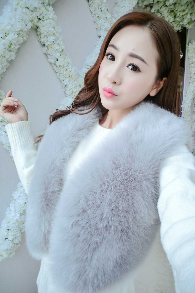 33372ebbeb9 White Black Wine Red Women s Faux Fur Gilet Coat Fox Fur Vest Short  Sleeveless Winter Jacket