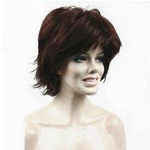 شعر مستعار نسائي قوي منفوش قصير مستقيم شقراء الطبقات شعر مستعار اصطناعي كامل 27 لون