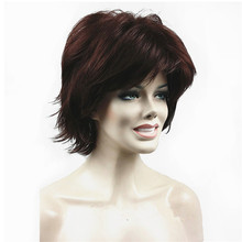 StrongBeauty Womens Wig Fluffy Short Straight Blonde Layered Hair Synthetic Full Wigs  27 Color