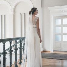 Длинная Вуаль 2 м 3 м 5 м мягкая Тюлевая драпированная свадебная вуаль Бохо вуаль романтическая свадебная вуаль velos novia vestido de veludo
