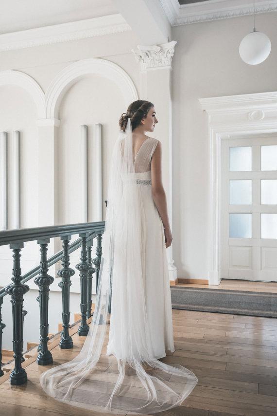 Long Veil 2m 3m 5m Soft Tulle Draped Wedding Veil Boho Veil Romantic Bridal Veil Velos Novia Vestido De Veludo
