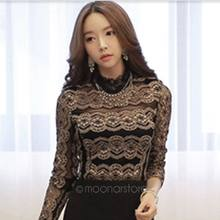 341d988516ce49 Women's Lace Blouse long-sleeve Basic Shirts Princess shirts For Evening  Party Female Tops
