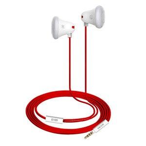 Image 2 - Mrice E100 Universal น้ำหนักเบาหูฟังสเตอริโอหูฟังคุณภาพสูงชุดหูฟังสีแดงสามเหลี่ยม Tangle Free CABLE