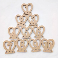 10pcs/Set Wooden Wedding Table Number Table Cards 1 10 Numbers Wedding Decoration Event Party Supplies Home Decoration 2019
