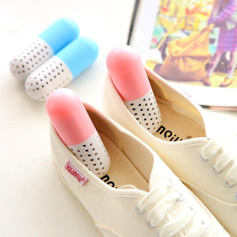 2pcs Pill Shape Shoe Deodorant Shoe Dryer Desiccant Dehumidifier Moisture Absorber For Closet Drawer