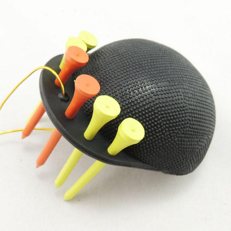 Freies Verschiffen Tragbare Gummi Schwamm Golfball Washer Cap Reiniger Reinigungsschale Handliche T-stück Schwarz