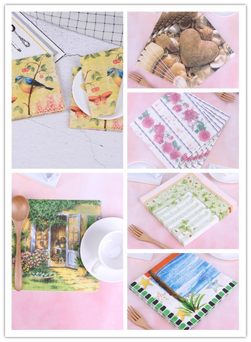 4 Single Lunch Paper Napkins for Decoupage Party Craft Vintage Summer Day