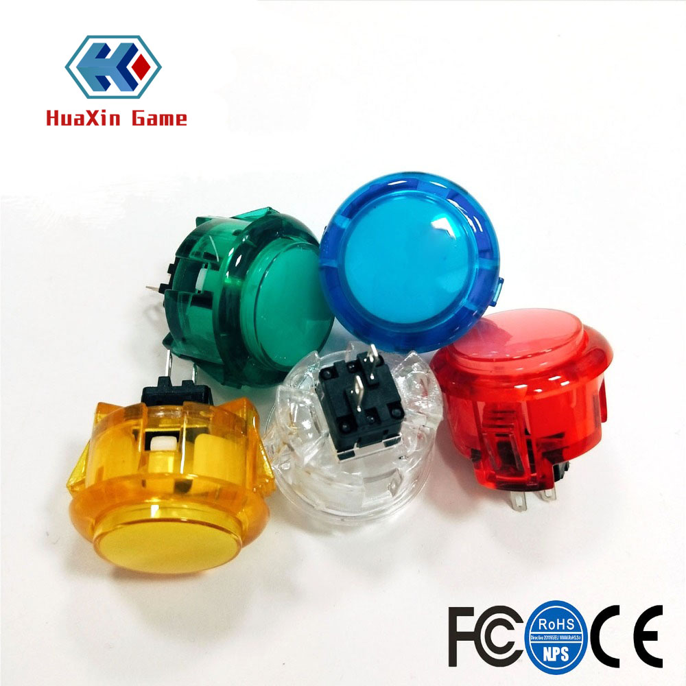 10pcs Transparent No LED Arcade 30mm Push Button Replace SANWA OBSF-30 OBSN-30 OBSC-30 For DIY Raspberry Pi MAME PC Pandora Game