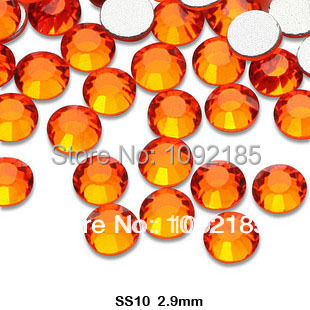 2014 stones and crystals free shipping ! aaa+ ss10 1440pcs/pack 2.8-2.9mm orange color rhinestone flat back flatback rhinestones cvco55cc 2280 2380 crystals and oscillators mr li
