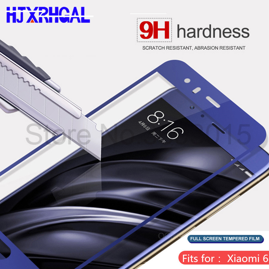9 H 0.3mm couverture complète en verre trempé pour xiaomi 6 mi 6 HD protecteur d'écran pour xiaomi 6 mi 6 téléphone verre 2.5D film de protection