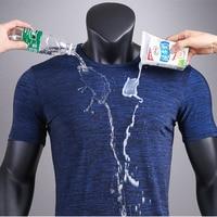 Short sleeved T shirt Men's Nano Waterproof Antifouling Summer Thin section Breathable Ice Silk Gray T shirt