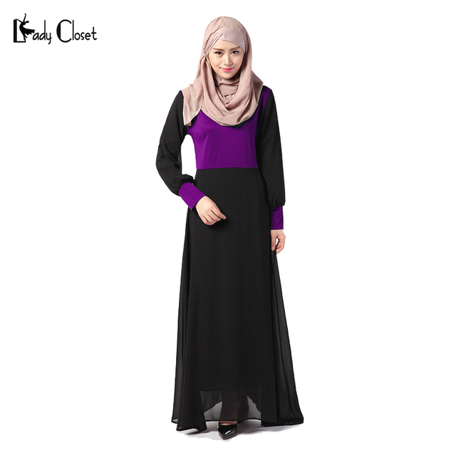 Ближний Восток Абая Мусульманские Традиции Платье Турецкие женской одежды Исламская Сращивания одежда Турции Трикотажные Хлопок Пуловер Платья