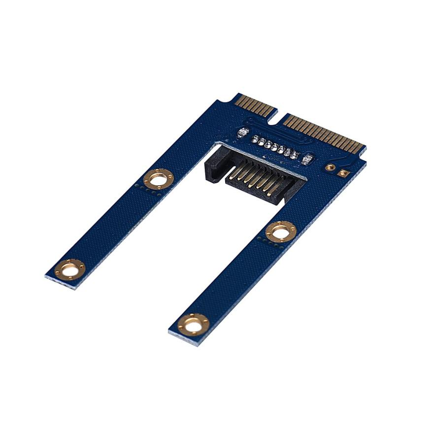 Factory price Hot Selling 50mm Mini PCI-E mSATA SSD To Flat SATA 7p Hard Disk Drive PCBA Extension Adapter Drop Shipping