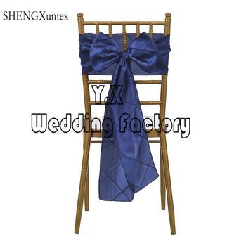 200 sztuk na sprzedaż sprzedaż tafta Pintuck krzesło szarfy na Krzesło typu Chiavari dekoracji wesele i imprezy tanie i dobre opinie Ślub BANQUET Hotel SHENGXuntex Zwykły 15cm*275cm Tafta tkaniny Gładkie barwione KLK-1QAPPOI9 wedding