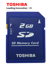10PCS/Lot Toshiba 2GB Class2 SD Card Carte SD Memory Card and Sd-card Lock Memoria SD New Wholesale Price Cheap Free Shipping