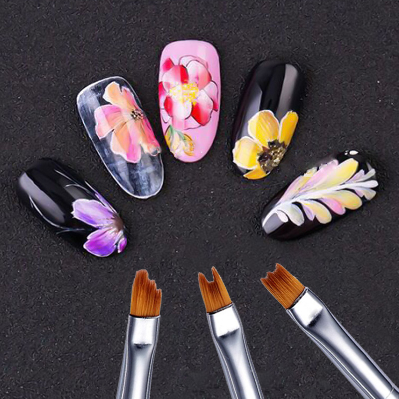 6pcs Nail Brushes Saviland Creative Design Painting Drawing Flower Pen Art Manicure Tools Christmas Gift Ideas