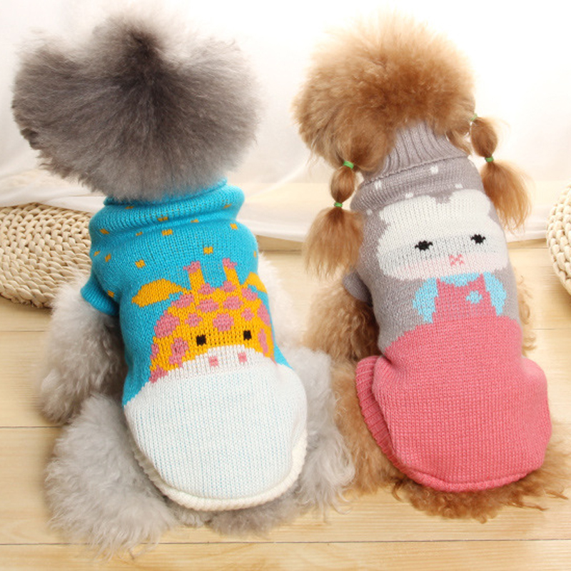 Small Pet Dog Winter Warm Pullover Coat Tops Toy Dog ...