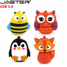 JASTER USB 3.0 HOT penguin owl fox pen drive cartoon usb flash pendrive 4GB 8G 16GB 32GB U disk animal memory stick gift