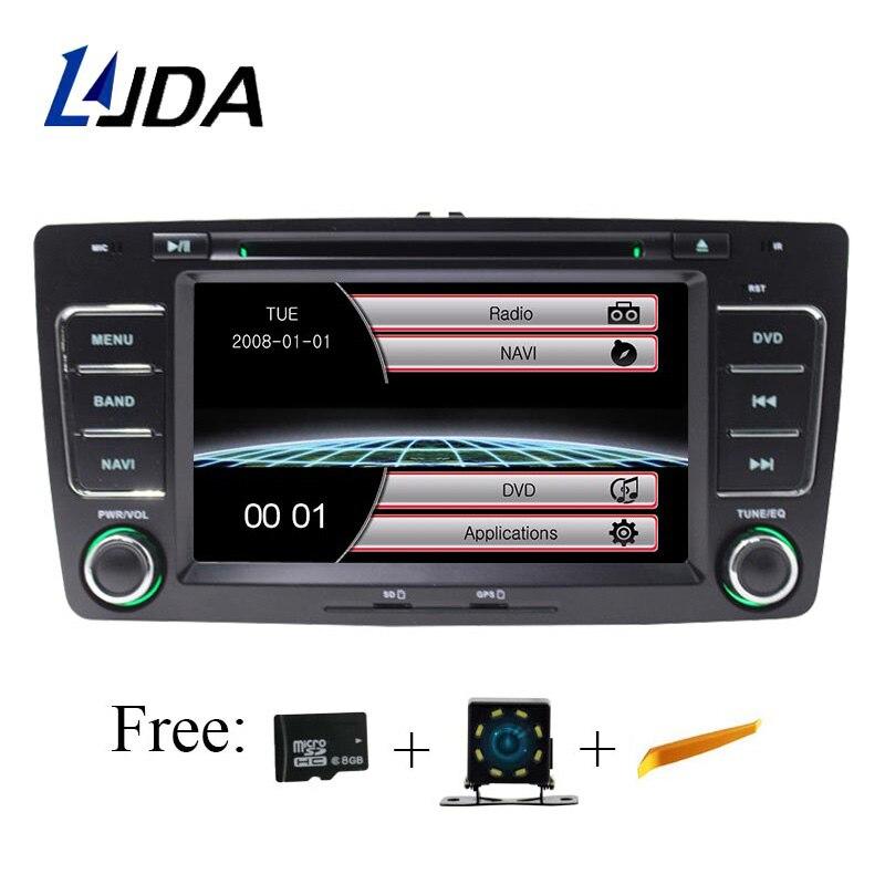 LJDA Two Din 7 Inch Car Multimedia Player For SKODA Octavia 2009 2013 DVD Stereo GPS Navigation Radio Autoaudio Headunit Canbus