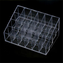 Sexy Product Display Stand Case Sex Furniture 24 Stand Trapezoid Clear Shelf for Sex Toy/Lipstick/Makeup/Cosmetic Holder May25