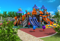 CE ISO TUV Exporting School Playground Structure Children Plastic Slide Kids Outdoor Play Equipment YLW OUT171045