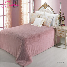 """CLORIS"" Luxurious Solid Color  Warm Bedspread On Bed 220*240CM Fashion Bedding Faux Fur Blanket"