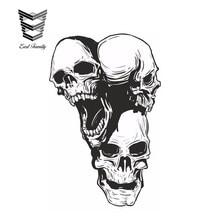 EARLFAMILY 12cm x 7.7cm Skulls 3Headed 2x Stickers for Truck Guitar Fridge  Helmet Book Locker Bumper Car Stickers 349b36360d99