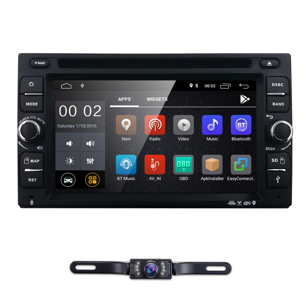 Quad Core Android 8.1 Car dvd Multimedia player universal video 2din audio for nissan xtrail Qashqai juke 2G+16G gps navigation