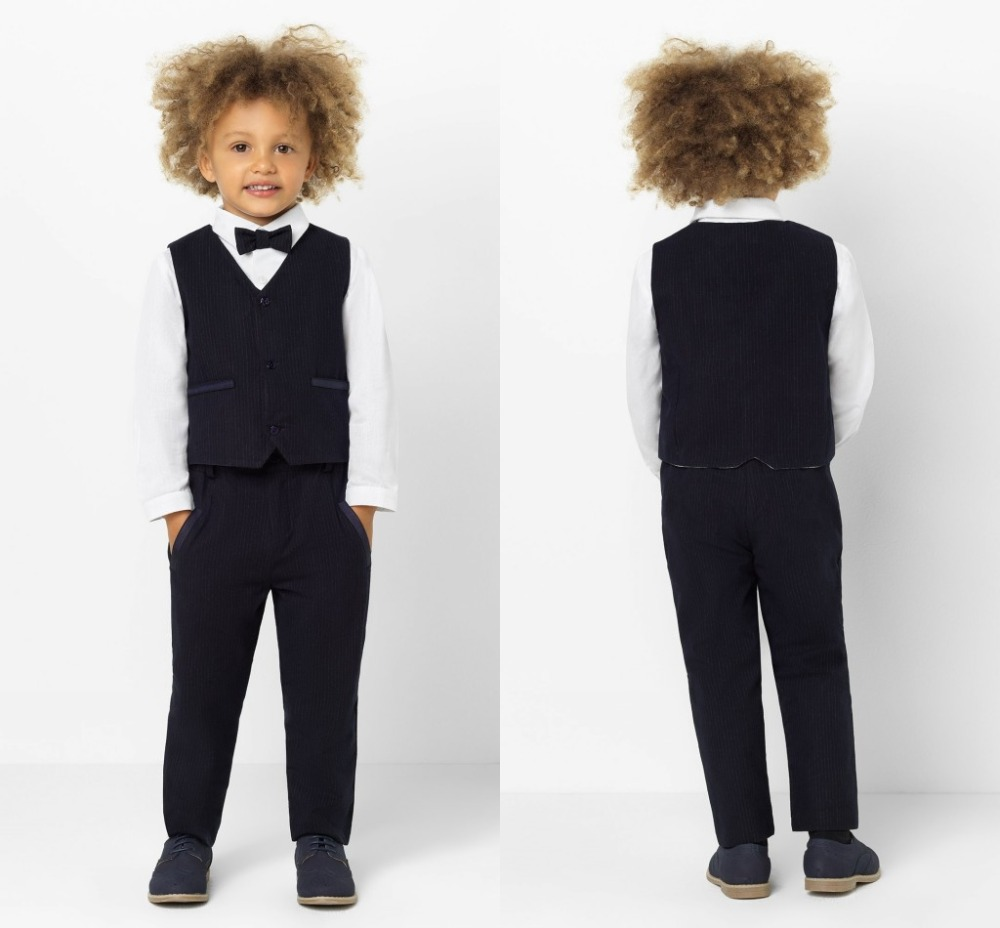 2019 New Arrival Boys' Attire Peaked Lapel Kids Suits Custom Made Clothing Set 2 Pieces Prom Suits (Pants+Tie+Vest) 014