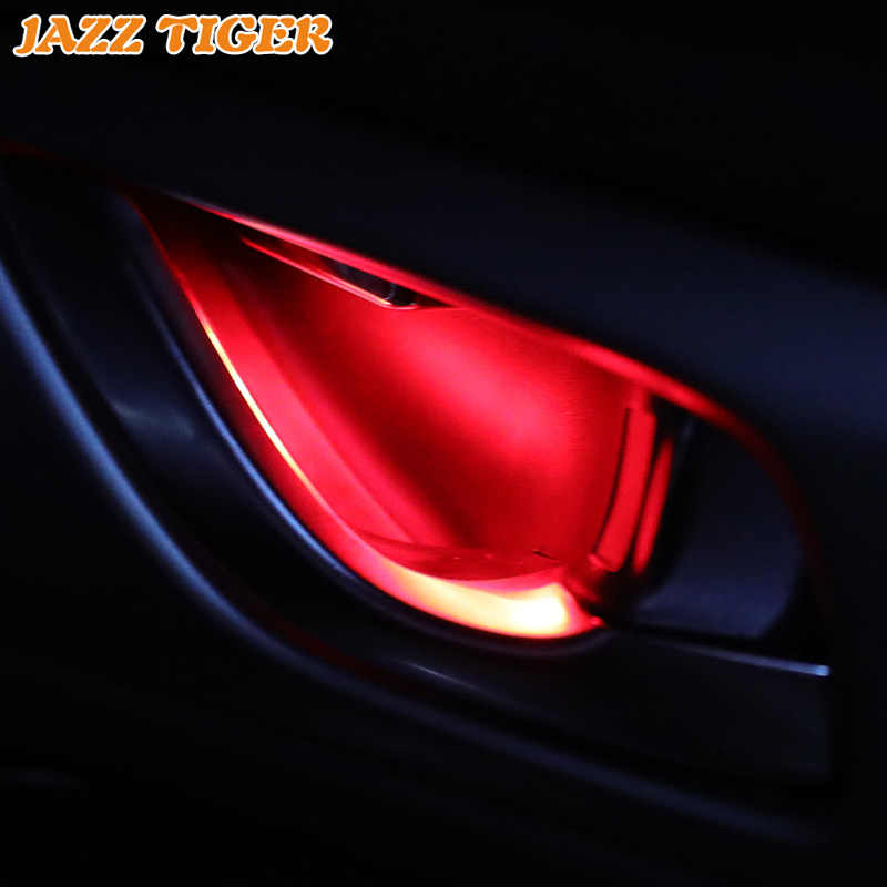 4 шт. окружающий свет Внутренняя накладка на дверь под ручку подлокотник свет атмосферный свет для Ford Falcon Ka Flex Figo Raptor F150