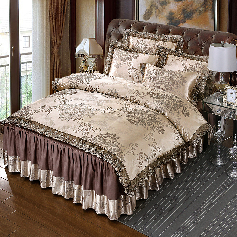 Canterbury VIENNA Luxury Jacquard Queen Size Quilt Doona Cover Set