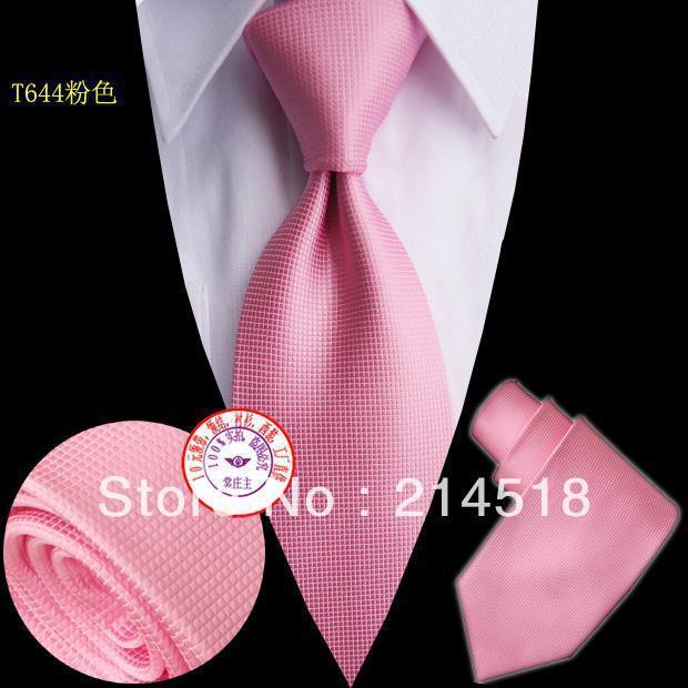 Brand New Necktie Polyester hot pink Solid Handmade Men's PINK Tie T644 10CM