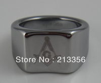 Free Shipping !Cheap Price Promotion Sales!USA Hot Selling 12MM Men's 8mm Tungsten MASONIC Comfort Fit Frosted Finish Band Ring