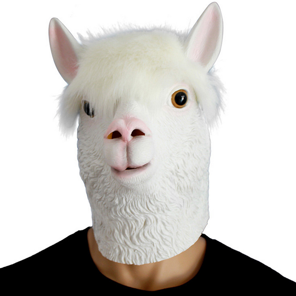 ISHOWTIENDA Party Story Novelty Latex Head Mask Costume Party Mask Animal Alpaca Party Masks