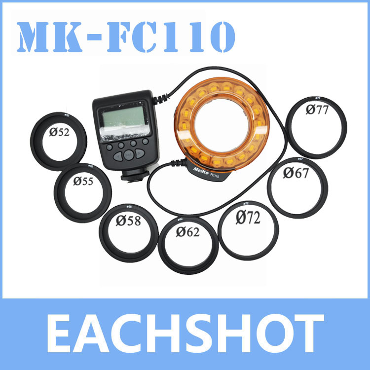 цены Meike FC-110, Meike FC-110 LED Macro Ring Flash Light FC110 for Canon EOS Nikon Pentax Olympus camera