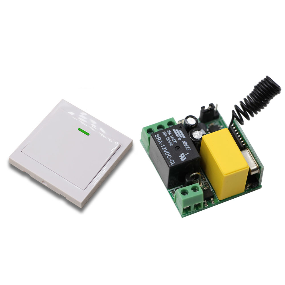 New Remote Control Switch AC220V Receiver 86 Wall Transmitter Wireless Power Switch Radio Controlled Switch Relay 315MHZ/433MHZ ac 220v 10a wireless remote control switch 1ch relay receiver module wall transmitter radio light switch fixed code 315 433mhz