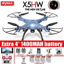 Syma X5HW FPV RC Quadcopter Drone Con Cámara de WIFI 2.4G 6-Axis Actualiza RC Helicóptero Juguetes de Presión Alta
