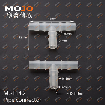 2020 free shipping ! MJ-T14.2 (100 pieces) pipe fittings TEE type three way Equal diameter length 14.2mm Pipe connector