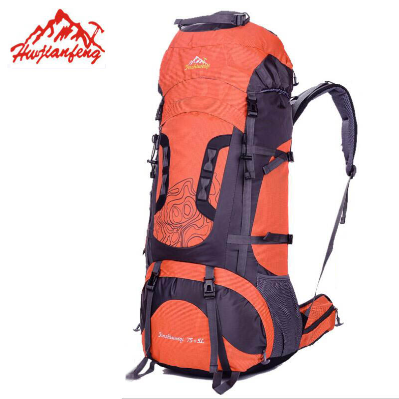 80L Outdoor Hiking Backpack Camping Climbing Fishing Backpacks Travel Bag Men's Backpacks Hunting Rucksack Waterproof Bags цена