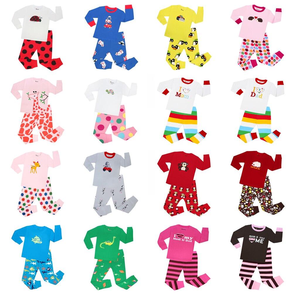 Boys Animal Pyjamas 100% Cotton Baby Pijamas Kids Pajamas Long Sleeve Girls Nightwear Children Sleepwear For 2-7years