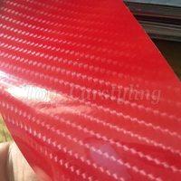 Красный глянец 6D углеродного волокна винил как настоящие Глянцевая углеродного волокна пленка с воздуха бесплатно Bubble protwraps винил 1.52X20 м/roll