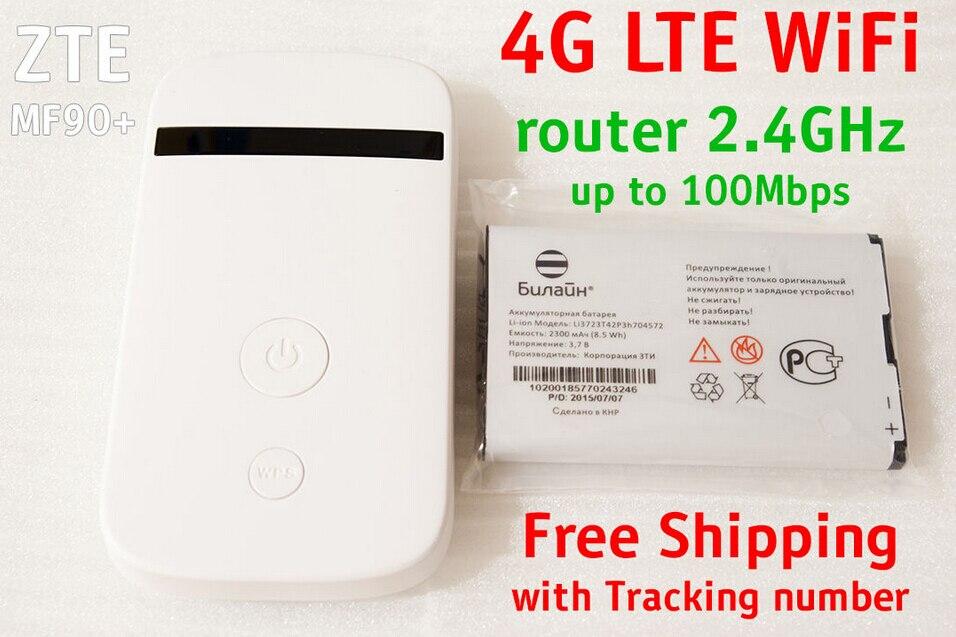 Unlocked Zte MF90 4g Lte MiFi Dongle Pocket Wifi Router 4 G Sim Card 4g Mobile Wi-fi Pocket Dongle Mini Lte MF90 Mf90+ Mf90m