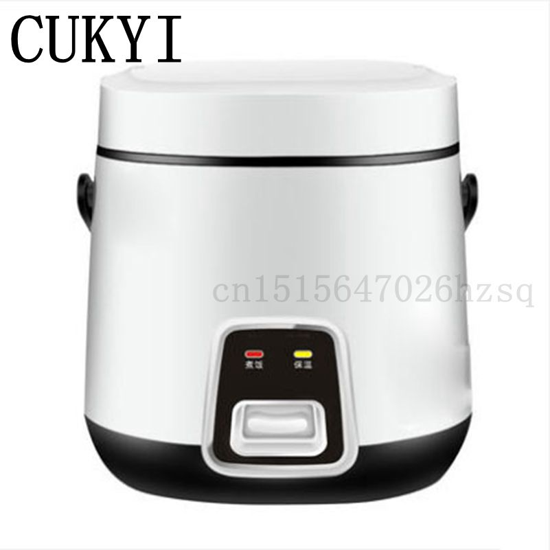 CUKYI 1.2L Mini household Rice Cookers for 1-2 persons cute shape, white pink kitchen helper cooking machine cukyi mini multifunctional rice cooker 700w two liners wifi function cook stew 3l for 2 4 persons 3d heating household cooker