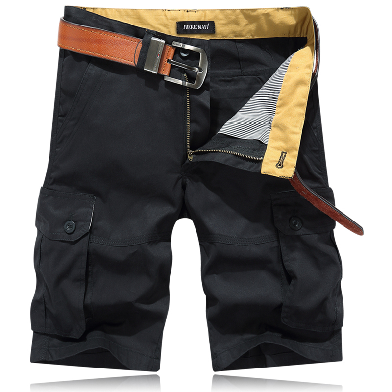 Fashion Style Hot Sale Men Casual Wera Short Pants Five Colors Zipper Fly Knee Length Male Trousers Straight Comfortable