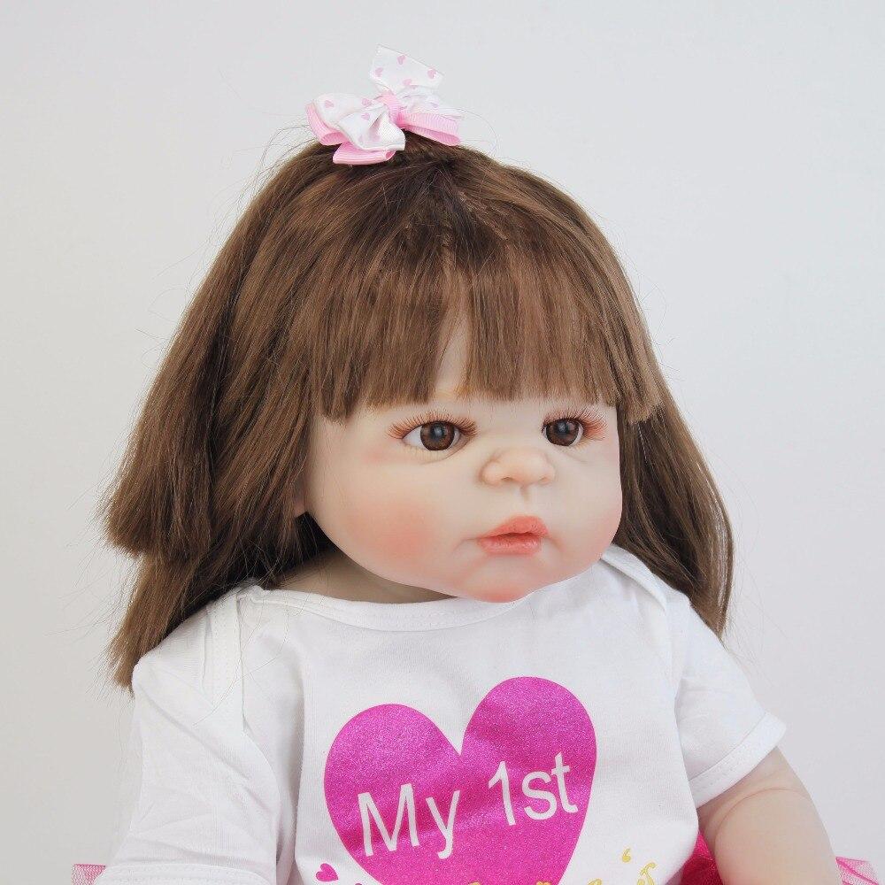 55 cm Full Siliconen Vinyl Body Reborn Baby Pop Speelgoed Als Echte 22 ''Pasgeboren Prinses Peuter Baby Poppen Baden speelgoed Gift Alive Bebe-in Poppen van Speelgoed & Hobbies op  Groep 3