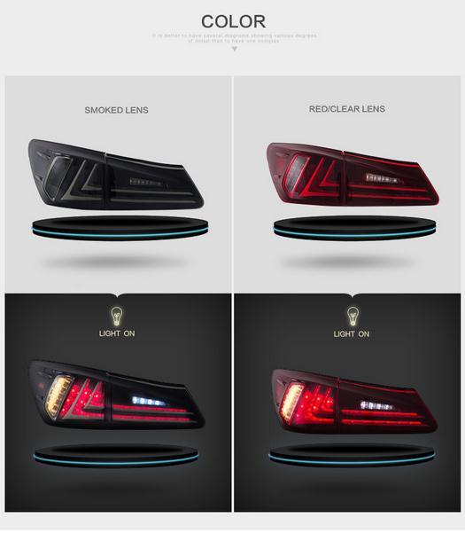 цены на Free shipping for vland Car tail lamp for Lexus for IS250 LED Taillights Year 2006-2012 DRL+Brake Rear lamp в интернет-магазинах