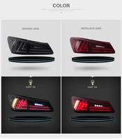 For Vland Car Tail Lamp For IS250 LED Taillights Year 2006 2012 DRL Brake Rear Lamp