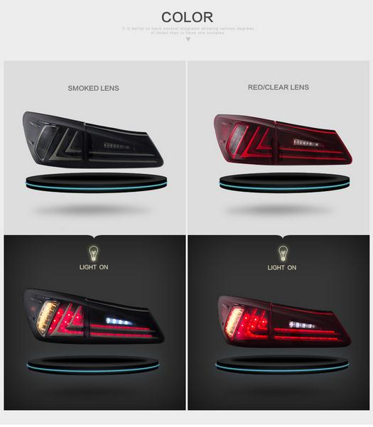 VLAND manufacturer for IS250 Tail light for IS350 LED Taillight 2006 2014 for IS300 Tail lamp